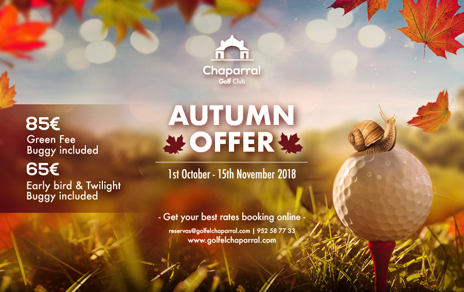 Autumn offer 2018 Chaparral Golf Club, Mijas, Costa del Sol