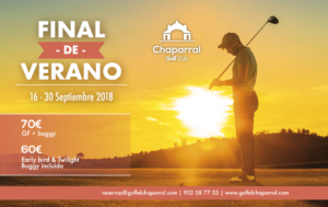end of summer offer chaparral golf club, mijas, costa del sol, español