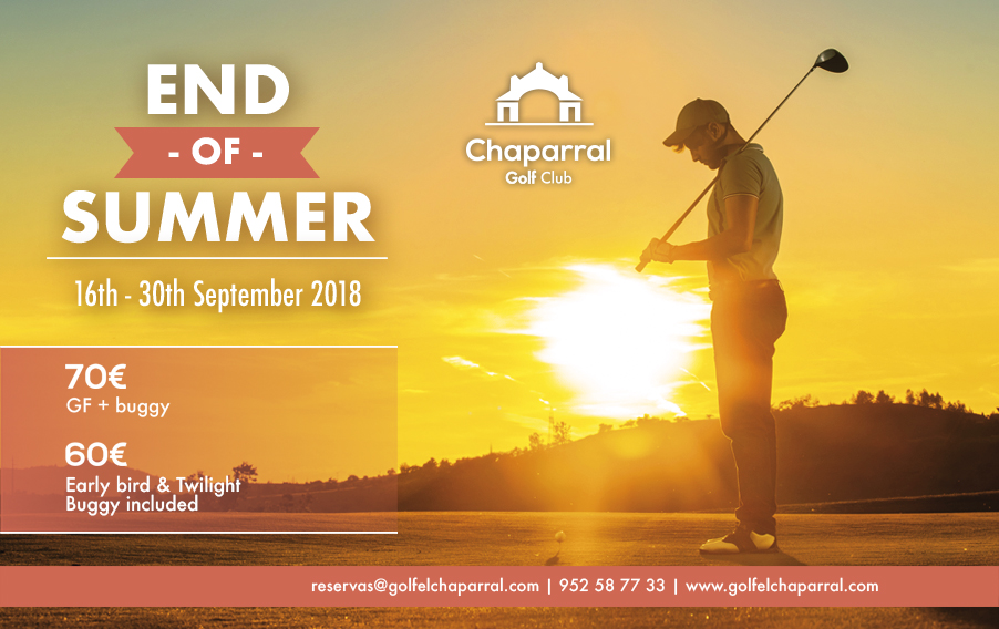 end of summer offer chaparral golf club, mijas, costa del sol, inglés
