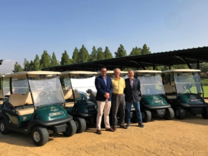 nuevos buggies club car chaparral golf club, mijas, costa del sol