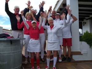 st georges day, Chaparral Golf Club, Mijas, Costa del Sol