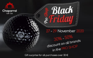 BLACK FRIDAY CHAPARRAL GOLF CLUB